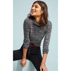 Anthropologie Pure+Good Marled Knit Turtleneck Top